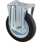 Колесо неповоротное Tellure Rota, d 100 мм, чёрная резина, сталь 535911
