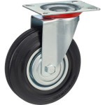 Колесо поворотное Стелла-техник d 125 мм, резина, металл 4001-125