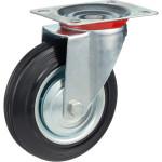 Колесо поворотное Стелла-техник d 160 мм, резина, металл 4001-160