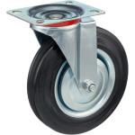 Колесо поворотное Стелла-техник d 200 мм, резина, металл 4001-200