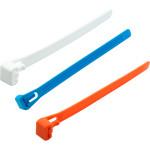 Стяжка многоразовая нейлоновая Европартнер PRM 7.5x200 мм белая, синяя, оранжевая, 15 шт.