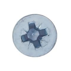 Винт оцинкованный Стройбат DIN 965 с потайной головкой М4х12 мм, 16 шт.