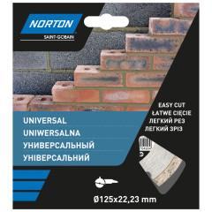 Диск алмазный Norton Universal 125x22.2 мм