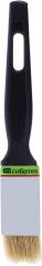 Кисть плоская с натуральной щетиной Эконом черная ручка 25 мм