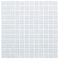 Мозаика Artens Glass белая 300х300х8 мм 0.09 м2