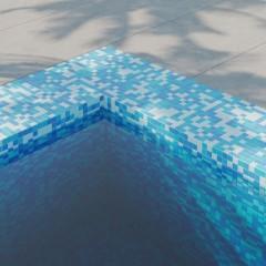 Мозаика Artens Pool голубая 327х327х4 мм 0.11 м2