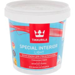 Краска интерьерная Tikkurila Special Interior Light глубоко-матовая база А белая 0.9 л