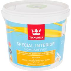 Краска интерьерная Tikkurila Special Interior Home&Office матовая база А белая 2.7 л