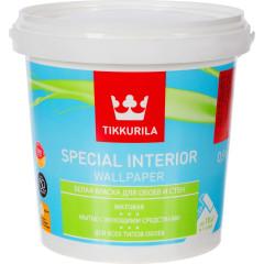 Краска для обоев Tikkurila Special Interior Wallpaper матовая база А белая 0.9 л
