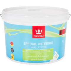 Краска для обоев Tikkurila Special Interior Wallpaper матовая база А белая 9 л
