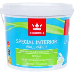 Краска для обоев Tikkurila Special Interior Wallpaper матовая база С 2.7 л