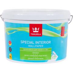 Краска для обоев Tikkurila Special Interior Wallpaper матовая база С 9 л