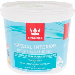 Краска влагостойкая Tikkurila Special Interior Kitchen&Bathroom полуматовая база C 2.7 л