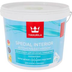 Краска фасадная Tikkurila Special Interior Kitchen&Bathroom полуматовая база C 5 л