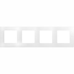 Рамка Legrand Mosaic горизонтальная 4 поста 8 модулей белая