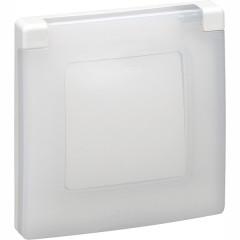 Рамка Legrand Etika с защитной крышкой IP44 1 пост белая