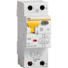 Дифференциальный автомат IEK 1P+N 25А 30мА 6кА C А