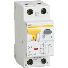 Дифференциальный автомат IEK 1P+N 32А 30 мА 6кА C А