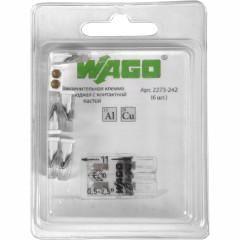 Клемма Wago 2273-242 2-проводная с пастой AluPlus, 6 шт.