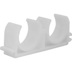 Крепеж трубы двойной Пластик d 25 мм
