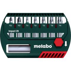 Набор бит Metabo 8 предметов биты ударные 29мм+держатель