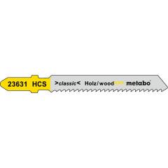 Пилки для электролобзика Metabo T119B по пеноматериалу, дереву и пластику 51х2 мм, 5 шт.