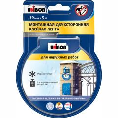 Лента двусторонняя для наружных работ Unibob 19 мм x 5 м