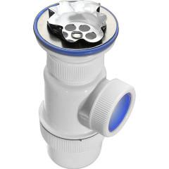 Сифон VirPlast Элит с нержавеющей чашкой D 70 мм и выпуском