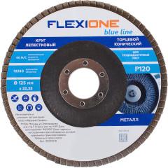 Круг лепестковый конический Flexione 125х22.23 мм Р120