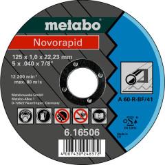 Круг отрезной по металлу Metabo Novorapid 125x22.23x1 мм