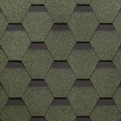 ГибкаячерепицаDöckePIEStandardСотазеленый 3м2