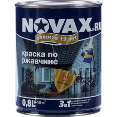 Грунт-эмаль 3 в 1 антикоррозионная Novax 7042 глянцевая серая 0.8 л