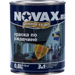 Грунт-эмаль 3 в 1 антикоррозионная Novax 7016 глянцевая темно-серая 0.8 л
