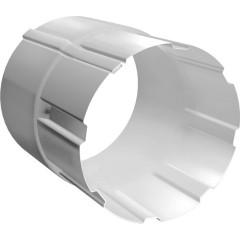 Соединитель трубы Grand Line 90 мм сигнальный белый 0.6 мм