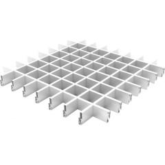 Профиль Грильято Cesal ПРОФИ несущий 100х100х40 мм белый матовый 0.6 м