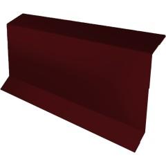 Планка примыкание в штробу с пленкой Grand Line 0.45 см PE RAL 3005 красное вино