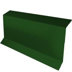 Планка примыкание в штробу с пленкой Grand Line 0.45 см PE RAL 6005 зеленый мох