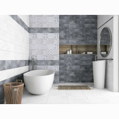 Декор настенный LB-Ceramics Кампанилья 2 20x40 см серый