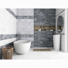 Декор настенный LB-Ceramics Кампанилья 3 20x40 см серый