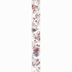Бордюр настенный LB-Ceramics Шебби Шик 7x60 см белый