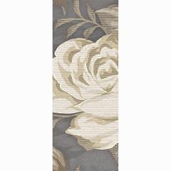 Бордюр настенный LB-Ceramics Fiori Grigio 1 7,5x20 см