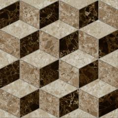 Керамогранит LB-Ceramics Скольера Геометрия коричневый 45x45 см