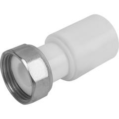 """Муфта комбинированная Пластик PP-R D 20х3/4"""" с накидной гайкой белая"""