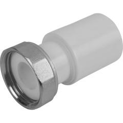 """Муфта комбинированная Пластик PP-R D 25х1"""" с накидной гайкой белая"""