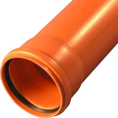 Труба наружной канализации Ostendorf KGEM ПВХ 110x2000 мм