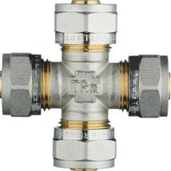 Крестовина обжимная TeRma 01430 d 16х16х16х16 мм