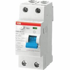 УЗО выключатель дифференциального тока АВВ F202АС 2 модуля 40А 300мА