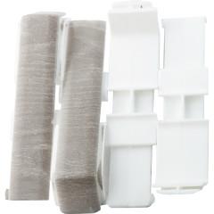 Соединитель Salag 80 мм шато серый, 4 шт.