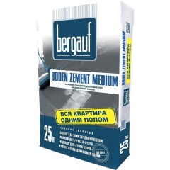 Наливной пол быстротвердеющий BERGAUF Boden Zement Medium 25 кг