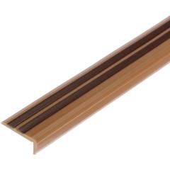 Профиль угловой гибкий T-plast антискользящий для ступеней Медь 14х40х900 мм